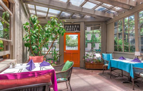 Welcome To The Panama Hotel Restaurant - Atrium Dining Area